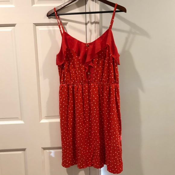 Elle Dresses & Skirts - Retro Red Polka Dot Dress